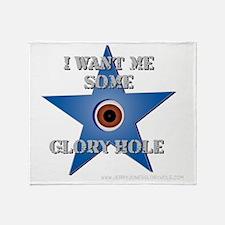 Jerry Jones Glory Hole Throw Blanket