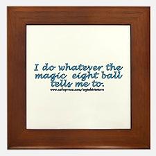 Magic 8 ball joke Framed Tile