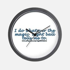Magic 8 ball joke Wall Clock