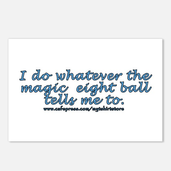 Magic 8 ball joke Postcards (Package of 8)