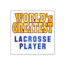 "World's Greatest Lacrosse P Square Sticker 3"" x 3"""