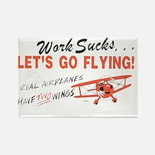 ... lets go FLYING! Rectangle Magnet