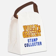 World's Greatest Stamp Collector Canvas Lunch Bag