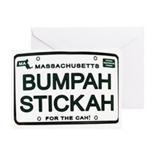 Bumpah Stickah Greeting Card