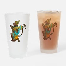 Kneeling Hanuman Drinking Glass
