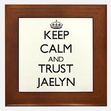 Keep Calm and trust Jaelyn Framed Tile