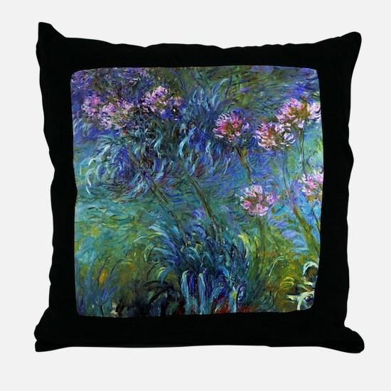 Claude Monet Jewelry Lilies Throw Pillow