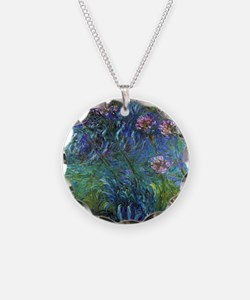 Claude Monet Jewelry Lilies Necklace Circle Charm