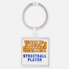 World's Greatest Streetball Player Square Keychain