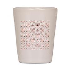 Retro Floral Pattern Shot Glass