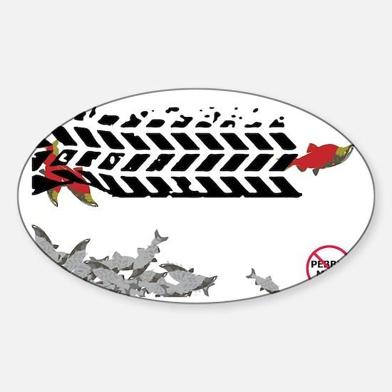 Tire Tracks - (Anti-Pebble Mine Cam Sticker (Oval)