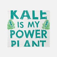 Kale is my power plant Throw Blanket