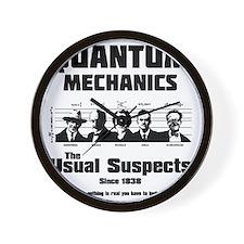 Quantum Mechanics-The Usual Suspects Wall Clock