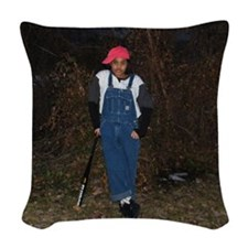 KBAT Logo Woven Throw Pillow