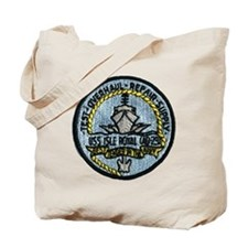 uss isle royale patch transparent Tote Bag