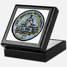 uss isle royale patch transparent Keepsake Box