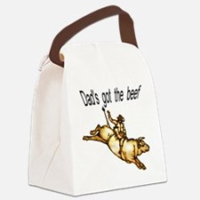 dads got the beef Canvas Lunch Bag