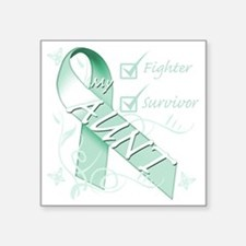 """My Aunt is a Fighter and Su Square Sticker 3"""" x 3"""""""