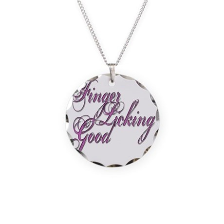 Finger Licking Good Necklace Circle Charm