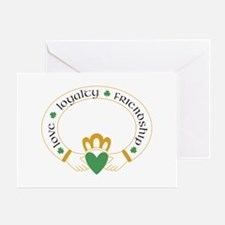 claddagh for light white cream Greeting Card