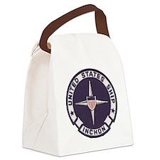 uss inchon patch transparent Canvas Lunch Bag