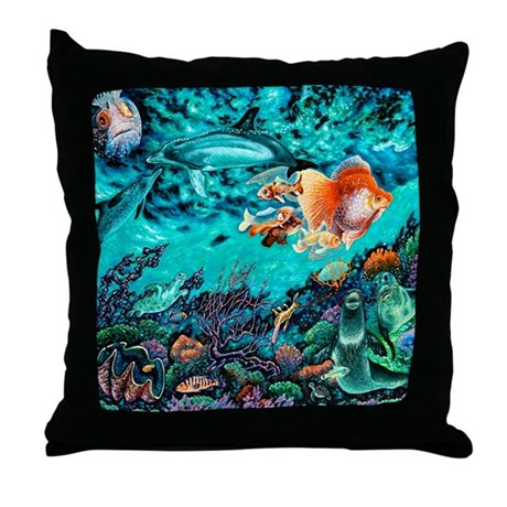 Fish Throw Pillow By Admin Cp19984870