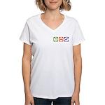 Eat Sleep Jindo Women's V-Neck T-Shirt