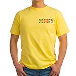 Eat Sleep Jindo Yellow T-Shirt