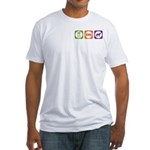 Eat Sleep Jindo Fitted T-Shirt