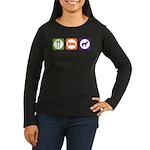 Eat Sleep Jindo Women's Long Sleeve Dark T-Shirt