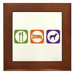 Eat Sleep Jindo Framed Tile