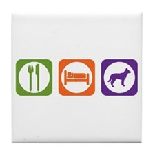 Eat Sleep Jindo Tile Coaster