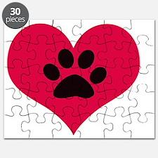 pawprintheartplain Puzzle