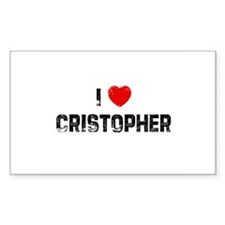 I * Cristopher Rectangle Decal
