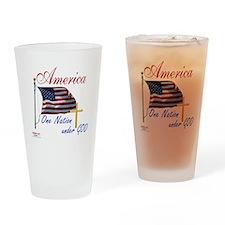 America One Nation Under God Drinking Glass