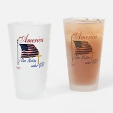 America One Nation Under God Drinking Glass