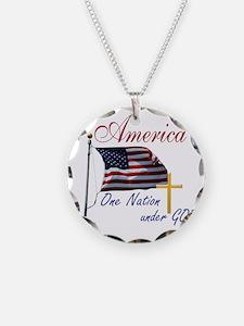 America One Nation Under God Necklace