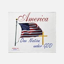 America One Nation Under God Throw Blanket