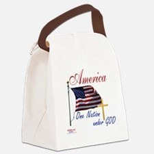 America One Nation Under God Canvas Lunch Bag