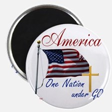 America One Nation Under God Magnet