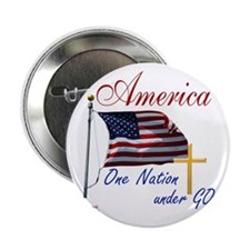 """America One Nation Under God 2.25"""" Button"""