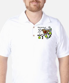 Partridge in a pear tree Golf Shirt