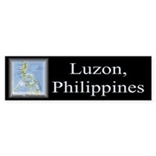 Luzon Map Gifts Bumper Bumper Sticker