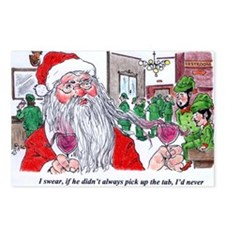 Santas buying! Postcards (Package of 8)