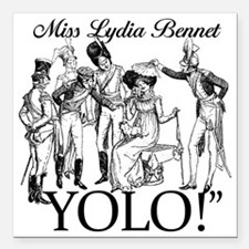 """Lydia Bennet YOLO Square Car Magnet 3"""" x 3"""""""