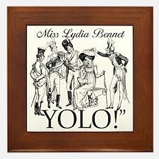 Lydia Bennet YOLO Framed Tile