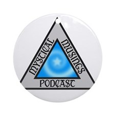 Mystical Musings Podcast Logo Round Ornament
