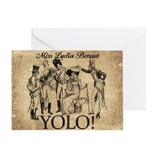 Lydia Bennet YOLO Greeting Card