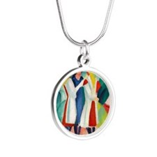 Macke Silver Round Necklace