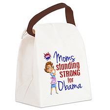 D Moms for Obama Canvas Lunch Bag